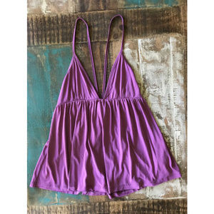 Free People Clara Babydoll Strappy Plunge Cami